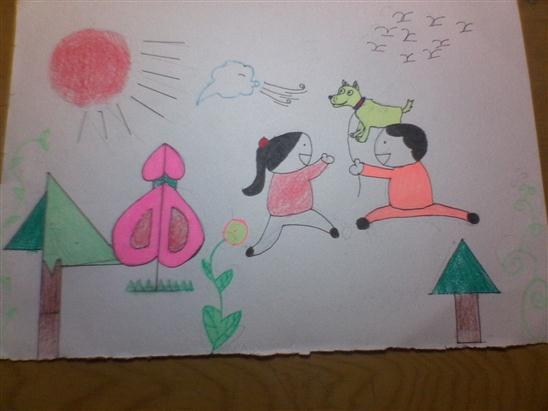 南京中山陵儿童画分享展示